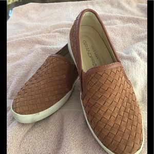 Cole Haan woven leather sneakers